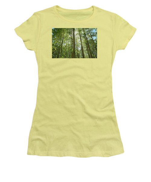 Aspen Green Women's T-Shirt (Junior Cut) by Eric Glaser