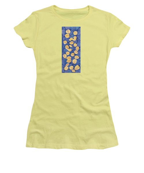 Aspen Leaves On Water Women's T-Shirt (Athletic Fit)