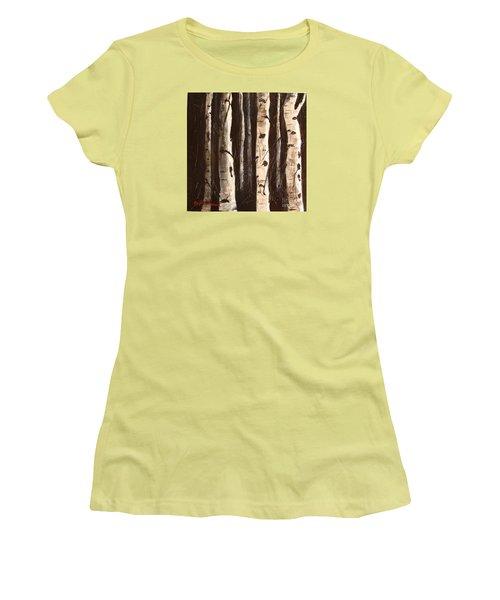 Aspen Stand Women's T-Shirt (Junior Cut) by Phyllis Howard