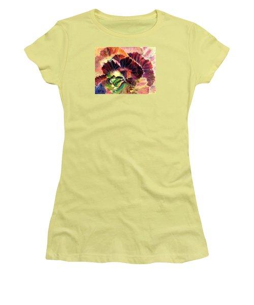 Astonishing Cabbage  Pastel Women's T-Shirt (Junior Cut) by Antonia Citrino