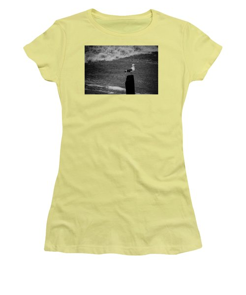 Women's T-Shirt (Athletic Fit) featuring the photograph At His Post by Lora Lee Chapman