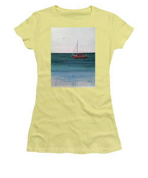 At Rest Women's T-Shirt (Junior Cut) by Wendy Shoults