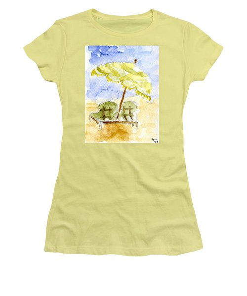 At The Beach Women's T-Shirt (Junior Cut) by Afinelyne