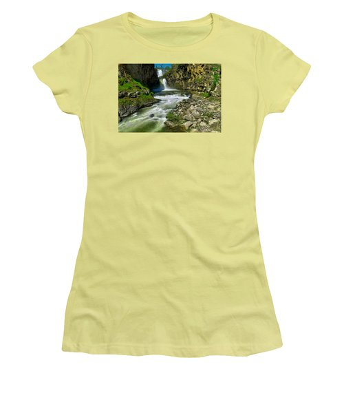 At The Bottom Of White River Falls Women's T-Shirt (Athletic Fit)