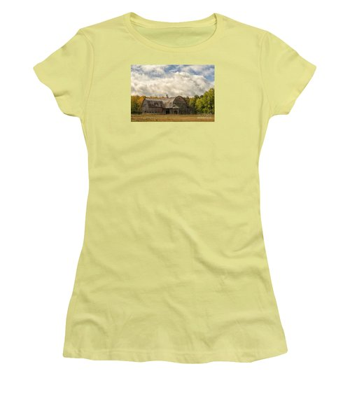 Women's T-Shirt (Junior Cut) featuring the photograph At The Edge Of The Medow by JRP Photography