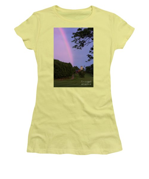 At The End Of The Rainbow Women's T-Shirt (Junior Cut) by Nicki McManus