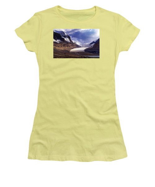 Athabasca Glacier Women's T-Shirt (Junior Cut) by Heather Vopni
