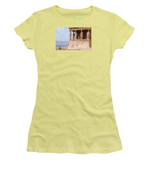 Erecthion Women's T-Shirt (Junior Cut) by Robert Moss