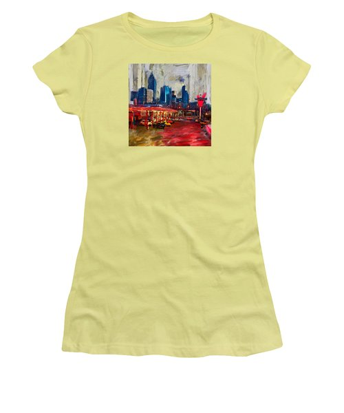 Atlanta Skyline 231 1 Women's T-Shirt (Junior Cut) by Mawra Tahreem