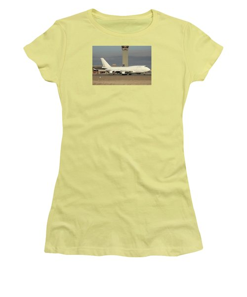 Atlas Air Boeing 747-45e-sf N473mc Phoenix Sky Harbor December 20 2015  Women's T-Shirt (Junior Cut) by Brian Lockett