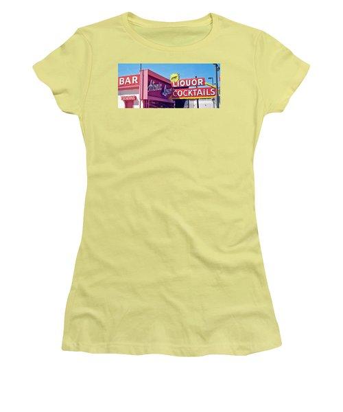 Atomic Liquors Women's T-Shirt (Junior Cut) by Matthew Bamberg