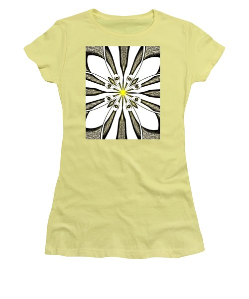 Atomic Lotus No. 3 Women's T-Shirt (Junior Cut) by Bob Wall