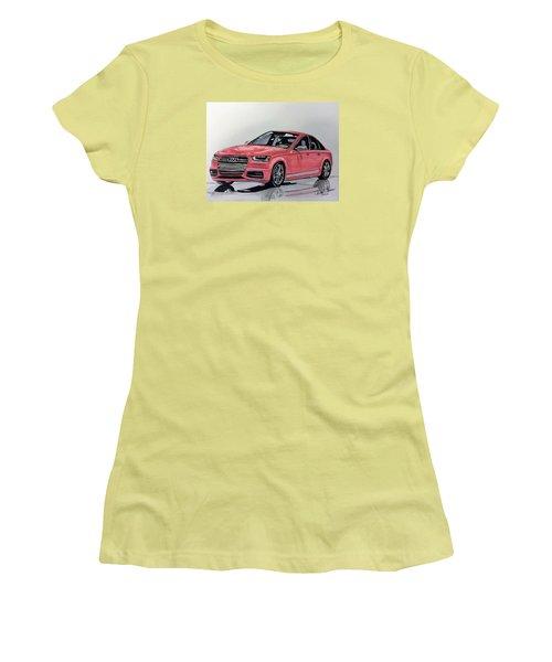 Audi S4 Women's T-Shirt (Junior Cut) by Kevin F Heuman