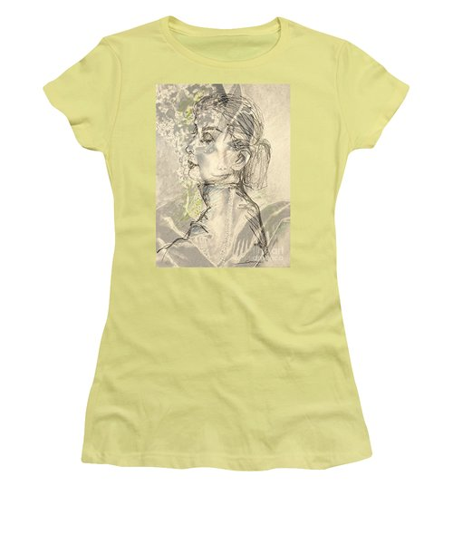 Audrey Two -- Portrait Of Audrey Hepburn Women's T-Shirt (Athletic Fit)