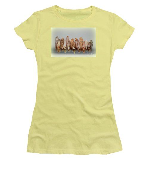 Auger Shells Women's T-Shirt (Junior Cut) by Patti Whitten