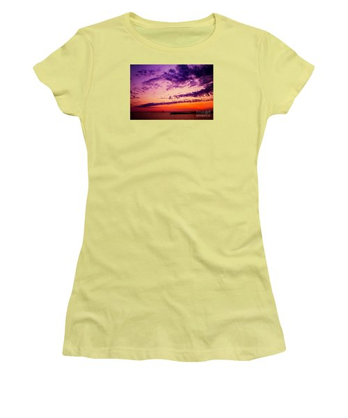 August Night Women's T-Shirt (Junior Cut) by Randall  Cogle