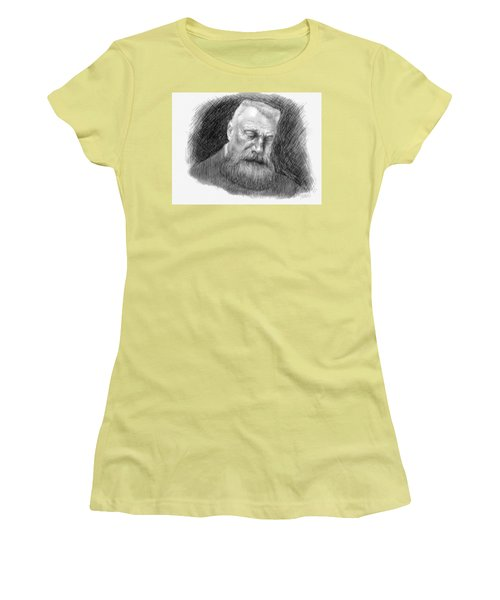 Women's T-Shirt (Junior Cut) featuring the drawing Auguste Rodin by Antonio Romero