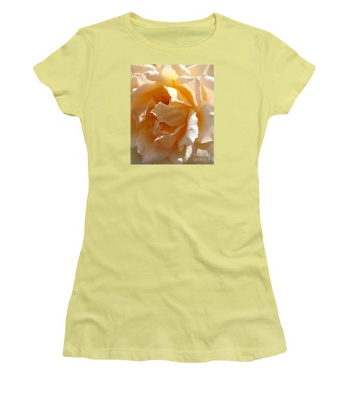 Women's T-Shirt (Junior Cut) featuring the photograph August Rose 1 by Fred Wilson