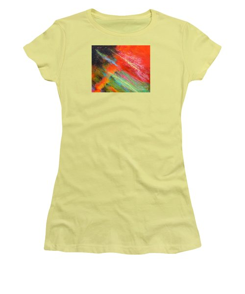 Fantasies In Space Painting Series. Title. Aurora De Fiero. Women's T-Shirt (Athletic Fit)