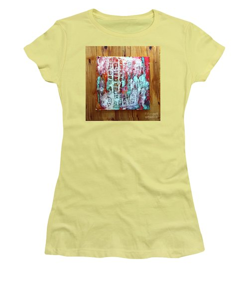 Ausangate Waterfalls Women's T-Shirt (Junior Cut) by Alene Sirott-Cope