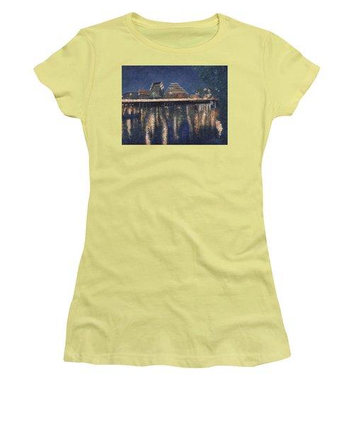Austin At Night Women's T-Shirt (Junior Cut) by Felipe Adan Lerma