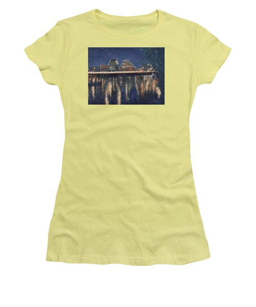 Austin At Night Women's T-Shirt (Athletic Fit)