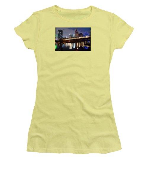 Austin From Below Women's T-Shirt (Junior Cut) by Frozen in Time Fine Art Photography