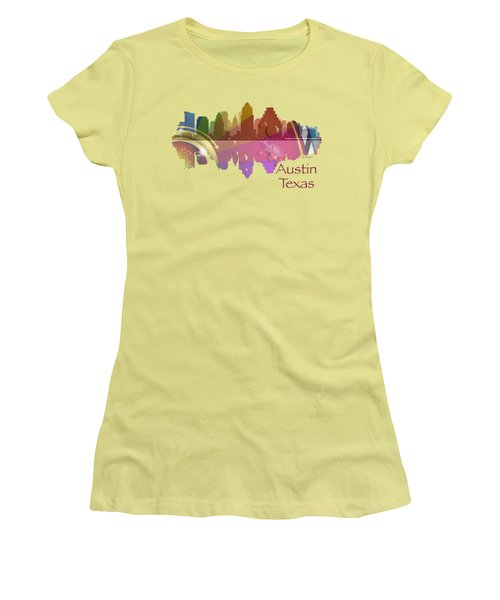 Austin Texas Skyline For Apparel Women's T-Shirt (Junior Cut) by Loretta Luglio