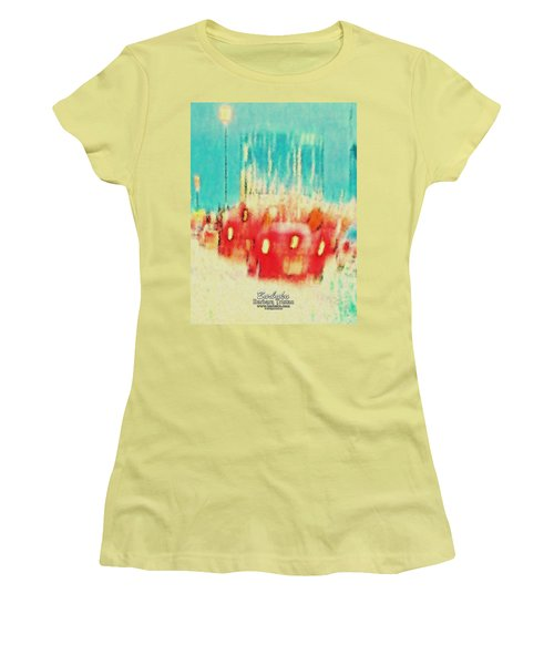 Women's T-Shirt (Junior Cut) featuring the photograph Austin Traffic by Barbara Tristan