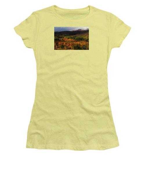 Autumn Aspen At Conway Summit In The Eastern Sierras Women's T-Shirt (Junior Cut) by Jetson Nguyen