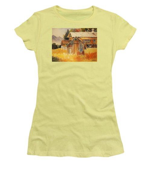 Autumn Barn And Sheds Women's T-Shirt (Junior Cut) by Al Brown