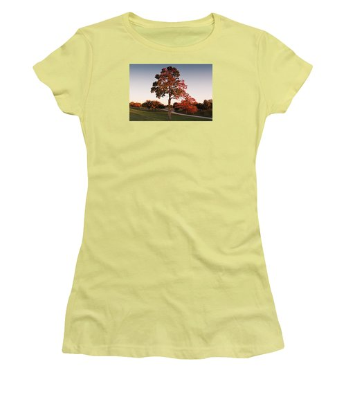Women's T-Shirt (Junior Cut) featuring the photograph Autumn Beauty by Milena Ilieva