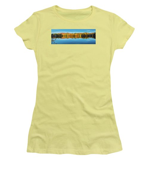 Autumn By The Lake Women's T-Shirt (Athletic Fit)