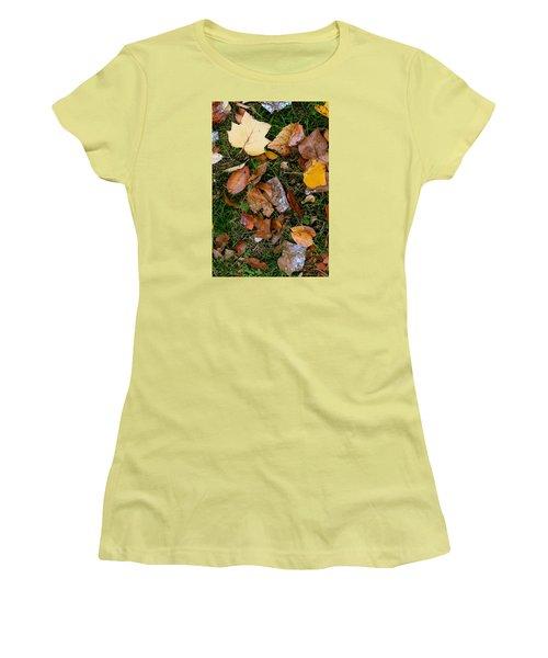 Autumn Carpet 001 Women's T-Shirt (Junior Cut) by Dorin Adrian Berbier