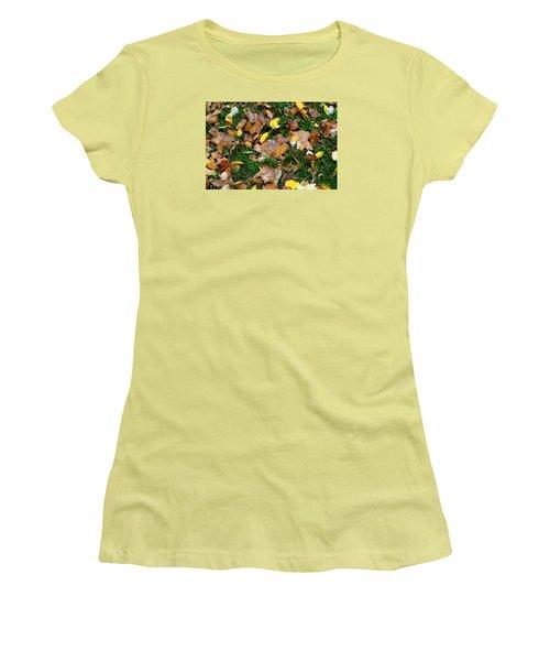 Autumn Carpet 002 Women's T-Shirt (Junior Cut) by Dorin Adrian Berbier
