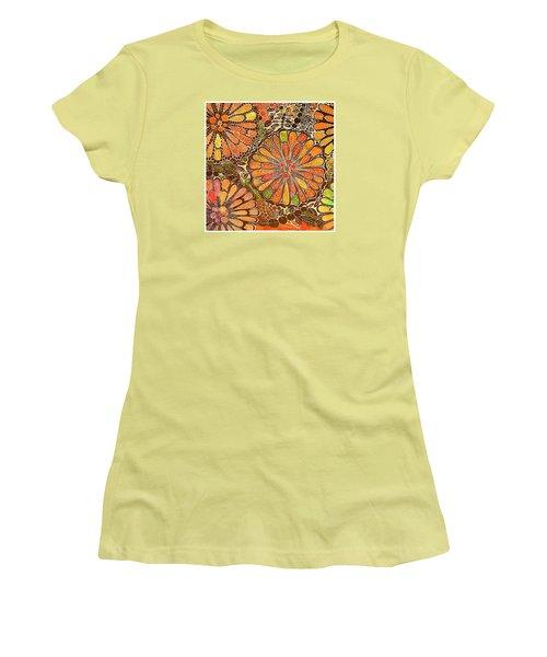 Autumn  Colors Mandalas  Women's T-Shirt (Junior Cut) by Sandra Lira