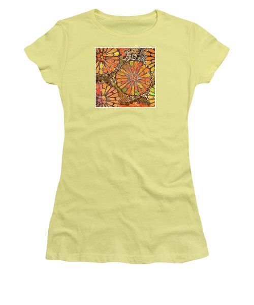 Autumn  Colors Mandalas  Women's T-Shirt (Athletic Fit)