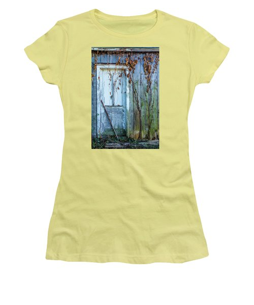 Autumn Door Women's T-Shirt (Athletic Fit)