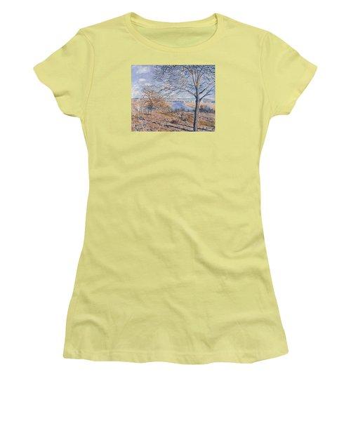 Autumn Effect Women's T-Shirt (Junior Cut) by Alferd Sisley