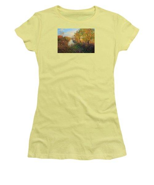 Autumn Evening Women's T-Shirt (Athletic Fit)