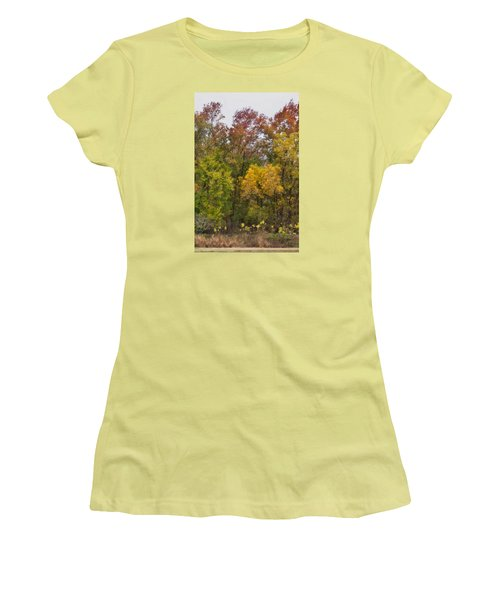 Women's T-Shirt (Junior Cut) featuring the photograph Autumn Explosion by Joan Bertucci