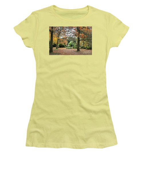 Autumn Fall Women's T-Shirt (Junior Cut) by Katy Mei