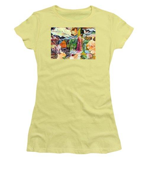 Autumn Falls Women's T-Shirt (Junior Cut) by Mindy Newman