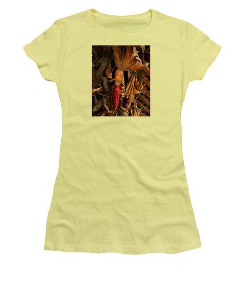 Women's T-Shirt (Junior Cut) featuring the photograph Autumn Harvest by Kathleen Stephens