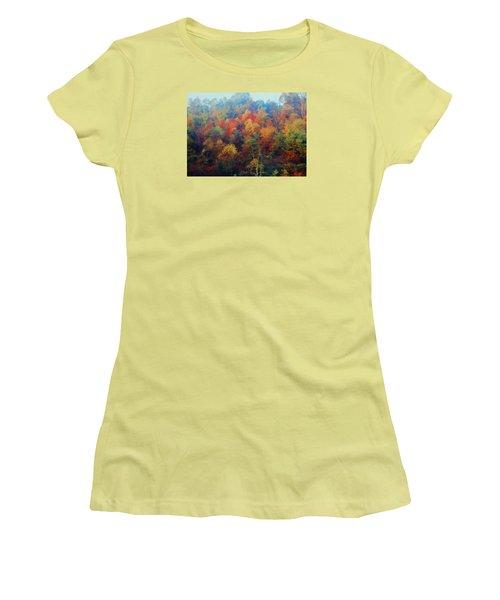 Autumn Hill Aglow Women's T-Shirt (Junior Cut) by Diane Alexander