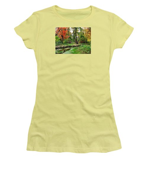 Autumn In Bloom Women's T-Shirt (Athletic Fit)