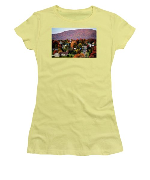 Autumn In Danville Vermont Women's T-Shirt (Junior Cut) by Sherman Perry