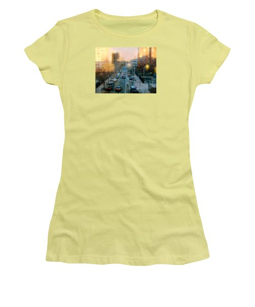 Autumn In Harlem Women's T-Shirt (Junior Cut) by Diana Angstadt