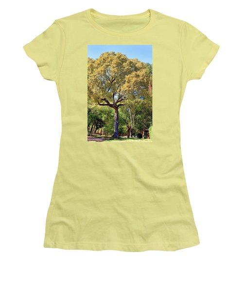 Autumn In Summer Women's T-Shirt (Junior Cut) by Joan Bertucci