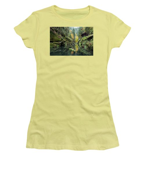 Autumn In The Kamnitz Gorge Women's T-Shirt (Junior Cut) by Andreas Levi